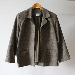 Vintage Brown Blazer Made in Canada